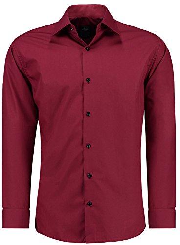 Tempo A Jeel Facile Tuta Uomo Rosso 205 Lunghe Ferro Slim Libero Camicia Business Scuro Maniche S Da Fit 6xl xw0X0AqHS