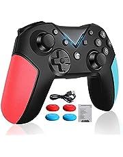 Controlador sem fio para Nintendo Switch, Controlador Bluetooth com Turbo, Giroscópio Shaft e Gamepad de vibração dupla, Nintendo Switch / Lite / Android / PS3 / controle de PC
