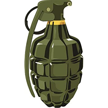 MD GRENADE Vinyl Decal 3 Sizes, 12 Colors