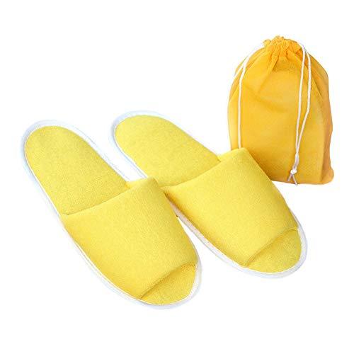 Vimoer Ospiti In Pantofole Custodia Pieghevoli Yellow Unisex Per Spugna Hotel Con Gli Spa r8rqfwExd