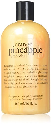 PHILOSOPHY ORANGE PINEAPPLE SMOOTHIE SHAMPOO, SHOWER GEL & BUBBLE BATH - 16 OZ by Philosophy
