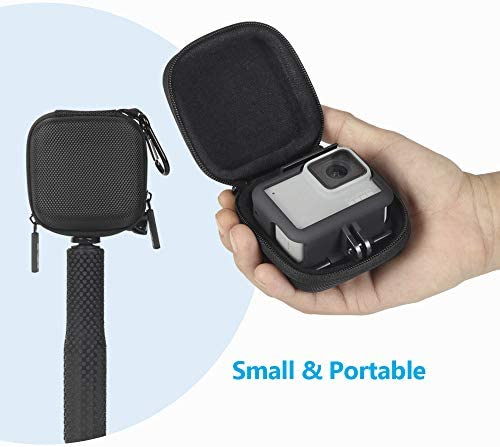AKASO 2018 Campark Hard gopro case Carrying Case for GoPro Hero 8//7// YI Action Camera and More -Black 6//5//4//3,DJI Osmo Action JSVER Hard shell protective Case travel Storage Bag for DJI Osmo Action