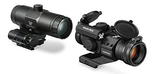 Bundle - 2 items: Vortex Optics StrikeFire 2 Red / Green Dot Sight Scope With Cantilever Mount and VMX-3t Magnifier with Flip To Side Mount for Specific Rifles by Vortex Optics
