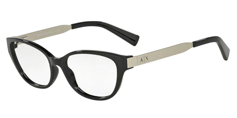Amazon.com: Armani Exchange AX3033 Eyeglass Frames 8158-54 - Black ...