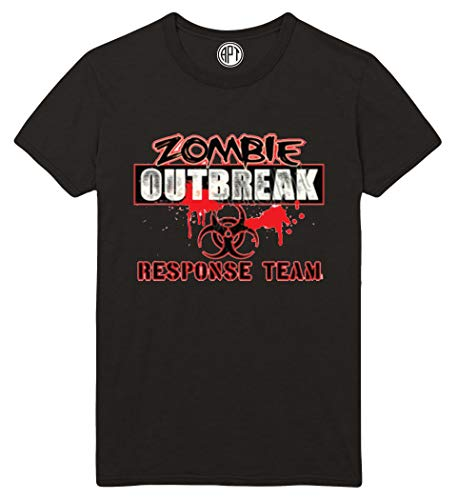 Zombie Outbreak Repsonse Team Printed T-Shirt - Black - 5XLT for $<!--$22.95-->