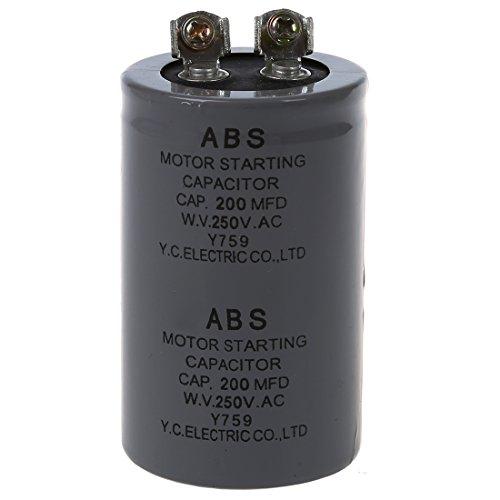 (TOOGOO(R) 200MFD 200uF AC 250V Screw Terminal Motor Starting Capacitor)