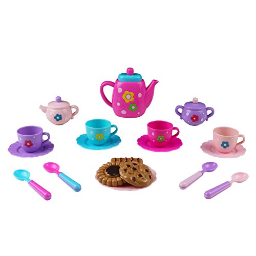 Fajiabao Tea Set Tea Party Pretend Playset for Kids, Teapot Play Set Bath Toy Pretend Play Set Girls Kitchen Toy Teapot Gift for Toddles Kids Children Boys Girls 3 Years Old up by Fajiabao