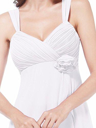 Dress Chiffon Bridesmaid Spaghetti White Strap Bridal Women Aurora BIqpYY