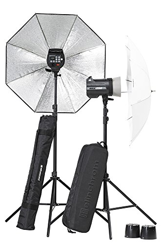 Flash Twin Softbox Kit (Elinchrom BRX 250/250 UMBRELLA TO GO KIT (EL20748.2))