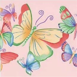 Pink Purple Butterfly Wallpaper Border Amazoncouk DIY Tools