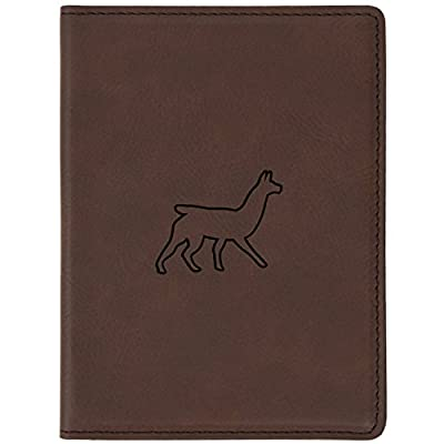 """865c3ac10af Llama Brown Leather Passport Holder - Laser Etched Design - 4 X 5.5""""  Engraved Passport"""