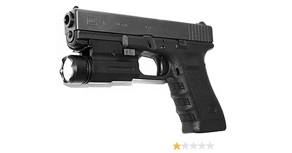 "Weaver Rail Flashlight 1/"" Picatinny Laser Mount Tactical T6 6061 Aluminum"