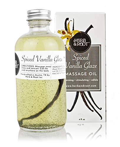 Why Should You Buy Edible Vanilla Massage Oil with Warming Cinnamon Spice to Relax The Muscles | Non...