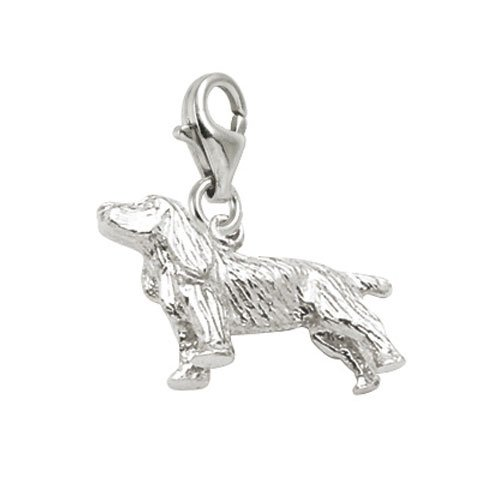 Rembrandt Charms Springer Spaniel Charm with Lobster Clasp, Sterling - Springer Spaniel Charm