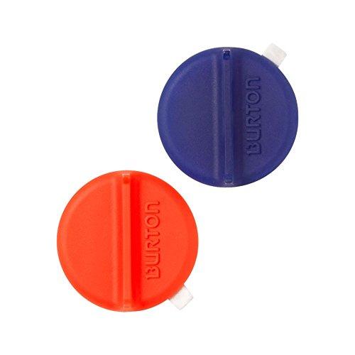 Burton Mini Scraper Mats Snowboard Stomp Pad Translucent Red/Blue (2-mini Scraper mats per pack) by Burton