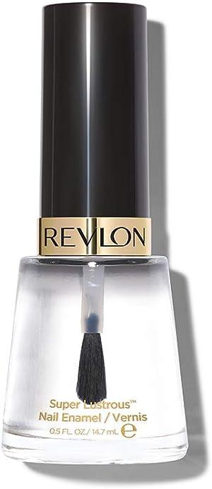 Revlon Nail Enamel, Chip Resistant Nail Polish, Glossy Shine Finish, 771 Clear, 0.5 oz