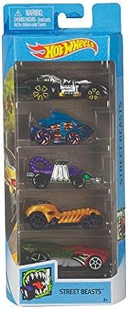 Pack 5 Carrinhos Hot Wheels Street Beasts - Mattel