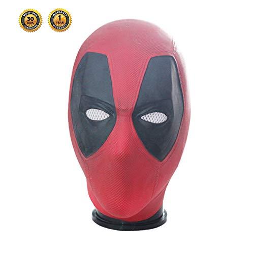DP Mask Deluxe Dead Man Full Head Latex Helmet Flexible Halloween Cosplay Costume Adult Accessory (Deadpool mask)