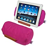 Lap Log – Soft Beanbag Tablet Stand – Hibiscus Pink – Perfect for Tablets of All Sizes Plus eReaders and Smartphones. Adjustable to Any Angle and Stable on All Surfaces. Ranked Highest on Amazon in Customer Satisfaction. Made in the USA from Sustainable Materials., Best Gadgets