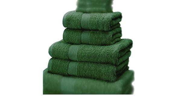 Verde Bosque 100/% algod/ón Turco Ancho 70 x Largo 130 cm Linens Limited Toalla de ba/ño