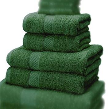 Linens Limited 100% Turkish Cotton 4 Piece Guest Towel Set, Black