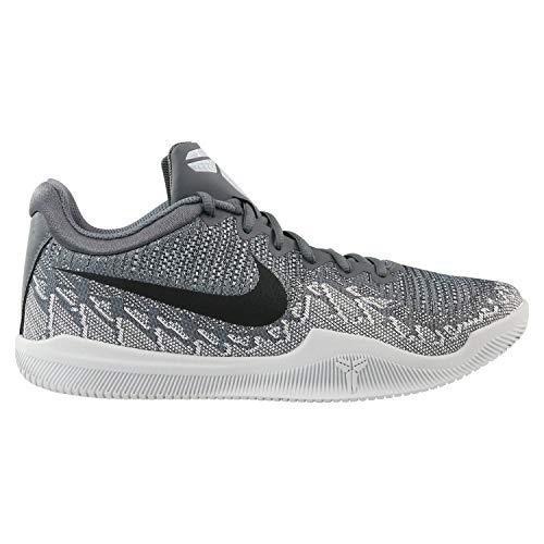super popular 99c8a e3276 Nike Men s Mamba Rage Basketball Shoes Dark Grey Black Pure Platinum White  Size 7.5 M US
