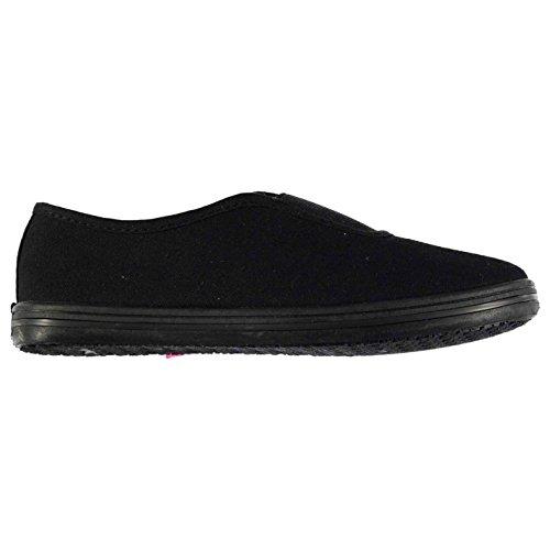 Slazenger Niños Canvas Slip On Shoes Para niños Negro/Negro