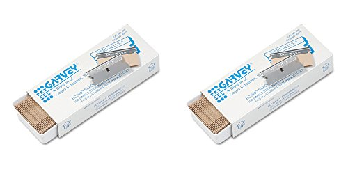 Garvey Economy Single Edge Cutter Blade, Box of 100 (40475), 2 Packs