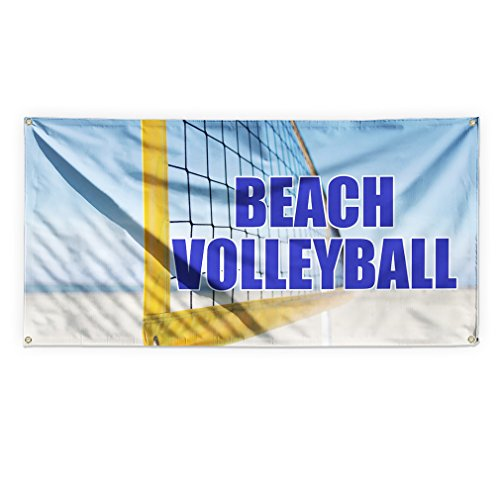 Beach Volley Ball Outdoor Advertising Printing Vinyl Banner Sign With Grommets - 3ftx6ft, 6 (3' Vinyl Ball)