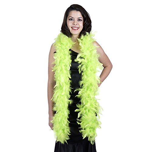 (ZUCKER Medium Weight Chandelle Feather boa Solid Colors -)