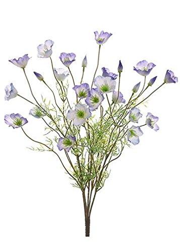 Amazon allstate floral craft faux california poppy flower allstate floral craft faux california poppy flower bush in purple cream 22quot mightylinksfo