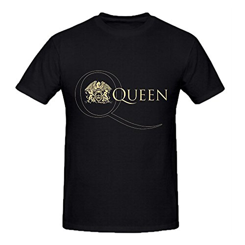 DIYCloTH Men's Greatest hits album by Queen Short Round T-shirt Black M