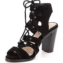 Gianni Bini Kolemann Lace-Up Block-Heel Dress Sandals Black 9.5M Women