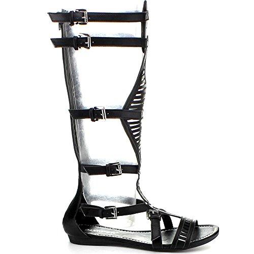Sandali Gladiatore Donna Rose Lory-89a Nere