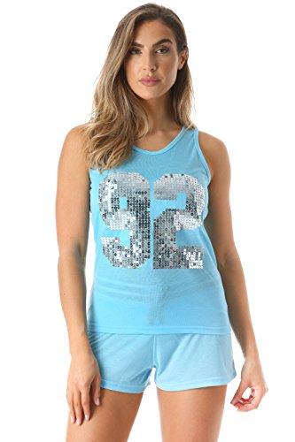 Just Love 6336-TRQ-1X Women Sleepwear/Short Sets/Woman - All One In Shorts