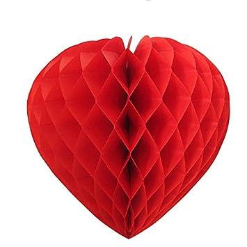 Alveole Herz Aus Papier 30 Cm Rot Amazon De Spielzeug