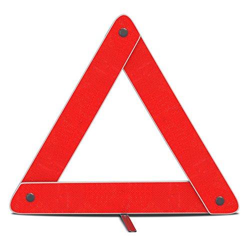 Accident Kit (mAuto Emergency Warning Triangle Foldable Reflective Safety Sign Roadside Hazard Symbol w/Secure Base 1 PK)