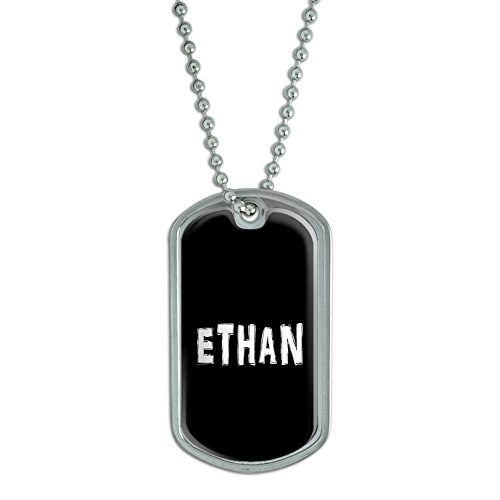 Ethan - Name Military Dog Tag Luggage Keychain