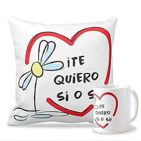 Personaliza tu carcasa Pack Taza + cojín para Enamorados y ...