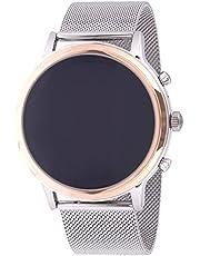 ساعة جوليانا هير ذكية للنساء من فوسيل - بمينا متعدد الالوان وسوار ستانلس ستيل وعرض رقمي - FTW6061