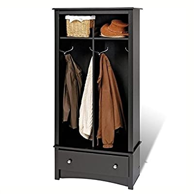 BOWERY HILL Hall Tree Organizer in Black -  - hall-trees, entryway-furniture-decor, entryway-laundry-room - 41UbQovy1SL. SS400  -