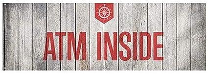 ATM Inside 12x4 CGSignLab Nautical Wood Heavy-Duty Outdoor Vinyl Banner