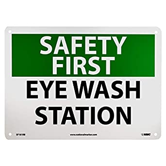 nmc sf181rb osha signsafety first eye wash station 14 - Eye Wash Station Osha