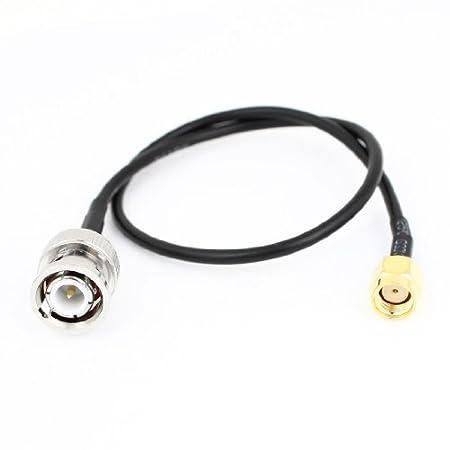 Amazon.com: DealMux RP-SMA macho para BNC masculino M / 30 centímetros Cord M Coaxial Cable: Electronics