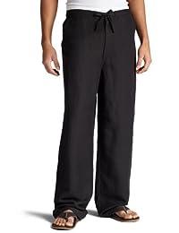 Cubavera Men's Big and Tall Linen-Blend Flat-Front Drawstring Pant