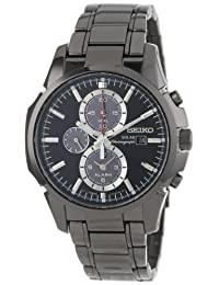 Seiko Mens Solar-powered Quartz Stainless Steel watch #SSC095