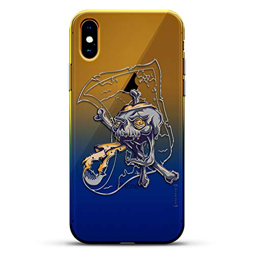 (LIFESTYLE: Pirate & Treasure Map | Luxendary Gradient Series Clear Ultra Thin Silicone Case for iPhone Xs Max (6.5