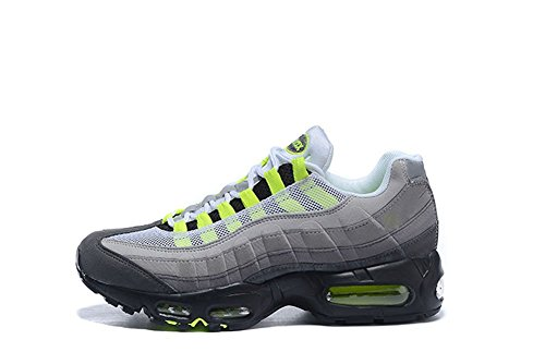 Price comparison product image Air MAX 95 Men's Wear Running Shoes YVVY Breathable Mesh Shoes Glaucum 45EU