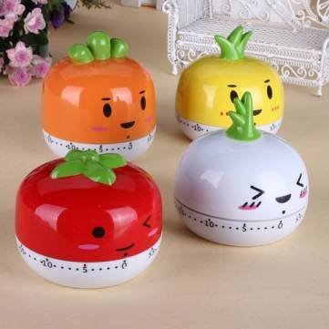 BoatShop Cartoon Animal Kitchen Cooking Timer 60 Minutes Bake Clock, Garlic by BSK (Image #1)
