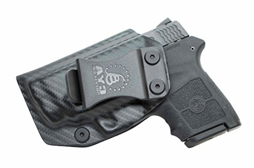CYA Supply Co. IWB Holster Fits: Smith & Wesson M&P Bodyguard 380 Auto & Integrated Laser - Veteran Owned Company - Made in USA - Inside Waistband Concealed Carry Holster